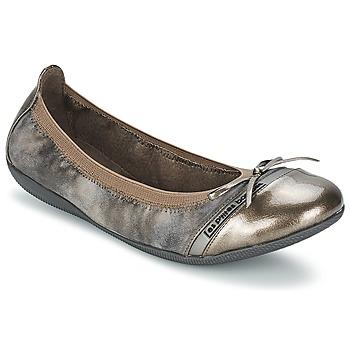 Zapatos Mujer Bailarinas-manoletinas Les P'tites Bombes CAPRICE METAL Gris