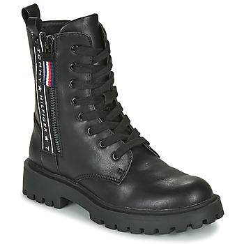 Zapatos Niños Botas de caña baja Tommy Hilfiger  Negro