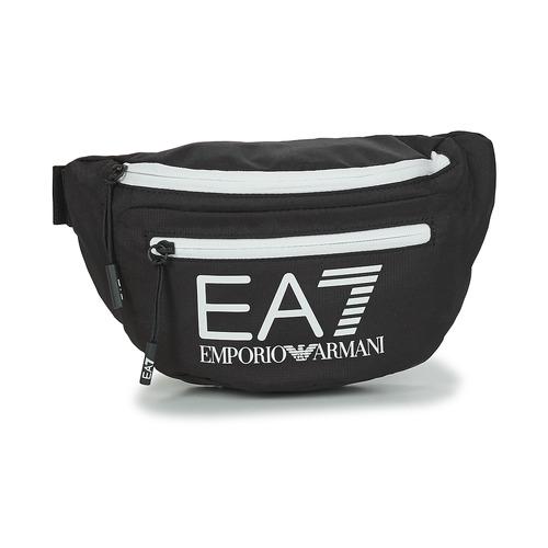 Bolsos Bolso banana Emporio Armani EA7 TRAIN CORE U SLING BAG Negro / Blanco