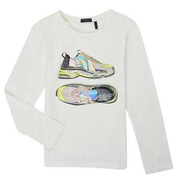 textil Niña Camisetas manga larga Ikks XR10172 Blanco