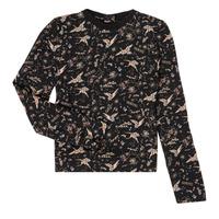 textil Niña Camisetas manga larga Ikks XR12052 Negro