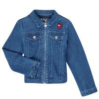 textil Niña Chaquetas denim Ikks XR40052 Azul
