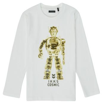 textil Niño Camisetas manga larga Ikks XR10233 Blanco