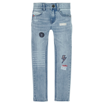 textil Niño Vaqueros slim Ikks XR29053 Azul