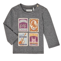 textil Niño Camisetas manga larga Ikks XR10081 Gris
