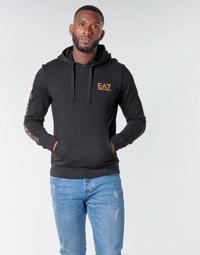 textil Hombre Sudaderas Emporio Armani EA7 TRAIN LOGO SERIES M HOODIE RN COFT Negro