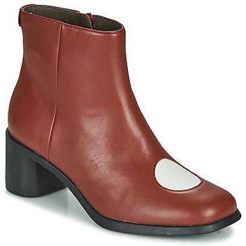 Zapatos Mujer Botines Camper TWINS Burdeo