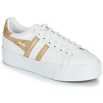 Zapatos Mujer Zapatillas bajas Gola ORCHID PLATEFORM Blanco / Oro