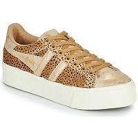 Zapatos Mujer Zapatillas bajas Gola ORCHID PLATEFORM SAVANNA Oro / Guepardo