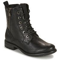 Zapatos Mujer Botas de caña baja Tom Tailor 93303-NOIR Negro