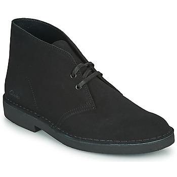 Zapatos Hombre Botas de caña baja Clarks DESERT BOOT 2 Negro