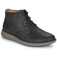 Zapatos Hombre Derbie Clarks UN LARVIK TOP2 Negro