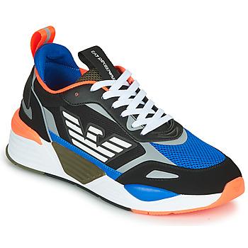 Zapatos Hombre Zapatillas bajas Emporio Armani EA7 XK165 Negro / Azul / Naranja