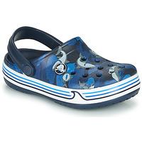 Zapatos Niño Zuecos (Clogs) Crocs CROCBAND SHARK CLOG PS Marino