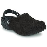 Zapatos Zuecos (Clogs) Crocs CLASSIC FUZZ MANIA CLOG Negro