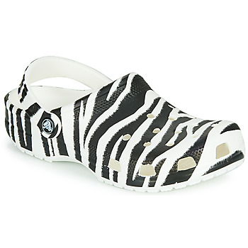 Zapatos Mujer Zuecos (Clogs) Crocs CLASSIC ANIMAL PRINT CLOG Cebra