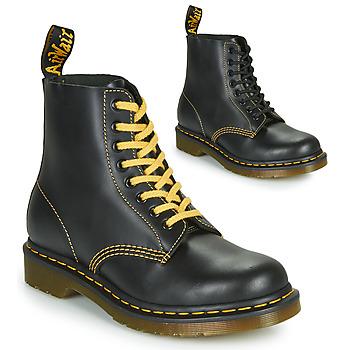 Zapatos Hombre Botas de caña baja Dr Martens 1460 PASCAL ATLAS Negro