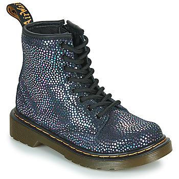 Zapatos Niña Botas de caña baja Dr Martens 1460 J Negro / Metalizado