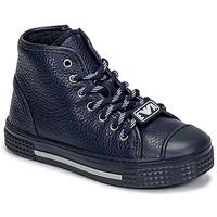Zapatos Niños Zapatillas altas Emporio Armani XYZ004-XOI25 Marino