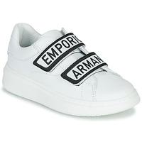 Zapatos Niños Zapatillas bajas Emporio Armani XYX007-XCC70 Blanco / Negro