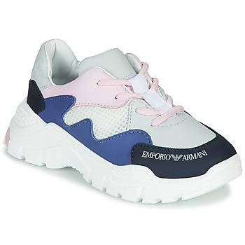 Zapatos Niño Zapatillas bajas Emporio Armani XYX008-XOI34 Blanco / Azul