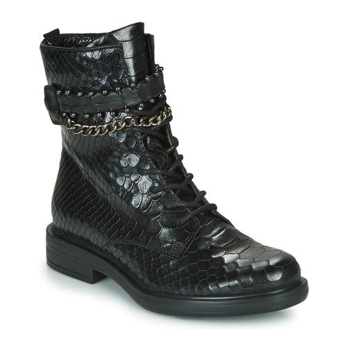 Zapatos Mujer Botas de caña baja Mjus CAFE SNAKE Negro