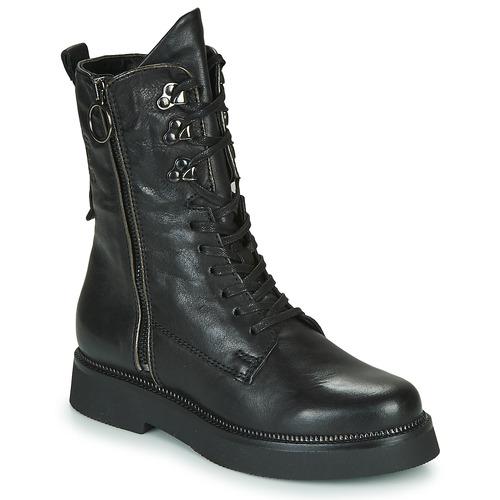 Zapatos Mujer Botas de caña baja Mjus TRIPLE ZIP Negro