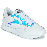 Zapatos Mujer Zapatillas bajas Reebok Classic CL LTHR Blanco / Iridescent