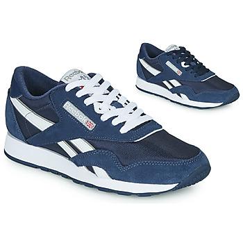 Zapatos Zapatillas bajas Reebok Classic CL NYLON Marino / Blanco