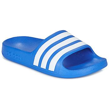 Zapatos Niño Chanclas adidas Performance ADILETTE AQUA K Azul / Blanco