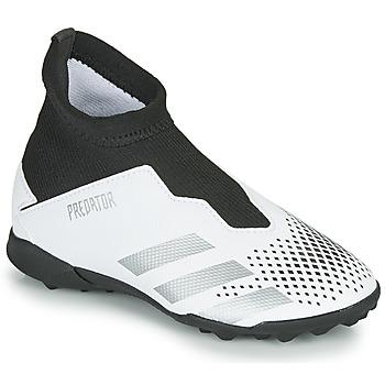 Zapatos Niños Fútbol adidas Performance PREDATOR 20.3 LL TF Blanco