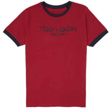 textil Niño camisetas manga corta Teddy Smith TICLASS 3 Rojo