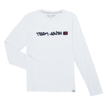 textil Niño Camisetas manga larga Teddy Smith CLAP Blanco