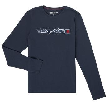 textil Niño Camisetas manga larga Teddy Smith CLAP Marino