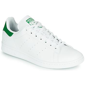 Zapatos Zapatillas bajas adidas Originals STAN SMITH VEGAN Blanco / Verde