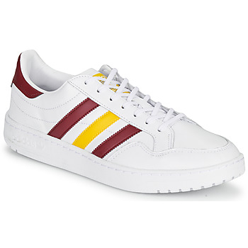 Zapatos Zapatillas bajas adidas Originals TEAM COURT Blanco / Burdeo / Amarillo