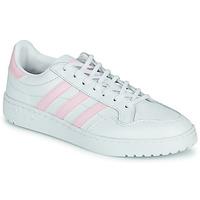 Zapatos Mujer Zapatillas bajas adidas Originals TEAM COURT W Blanco / Rosa