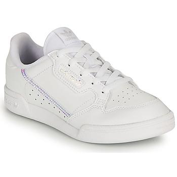 Zapatos Niña Zapatillas bajas adidas Originals CONTINENTAL 80 C Blanco / Iridescent