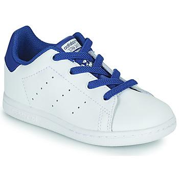 Zapatos Niño Zapatillas bajas adidas Originals STAN SMITH EL I Blanco / Azul