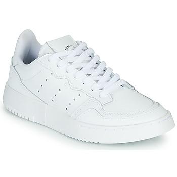 Zapatos Niños Zapatillas bajas adidas Originals SUPERCOURT J Blanco