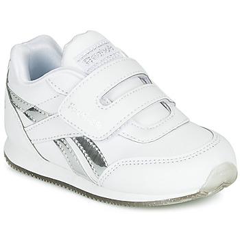 Zapatos Niña Zapatillas bajas Reebok Classic REEBOK ROYAL CLJOG Blanco / Plateado