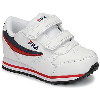 Zapatos Niños Zapatillas bajas Fila ORBIT VELCRO INFANTS Blanco / Azul
