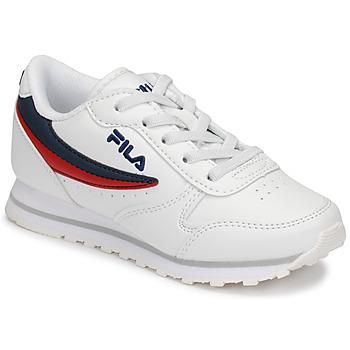 Zapatos Niños Zapatillas bajas Fila ORBIT LOW KIDS Blanco / Azul