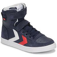 Zapatos Niños Zapatillas altas Hummel SLIMMER STADIL HIGH JR Azul