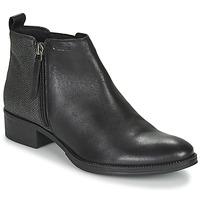Zapatos Mujer Botines Geox LACEYIN Negro / Plateado