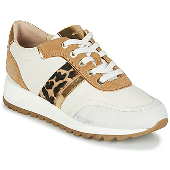 Zapatos Mujer Zapatillas bajas Geox TABELYA Blanco / Leopardo