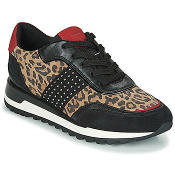 Zapatos Mujer Zapatillas bajas Geox TABELYA Leopardo / Negro
