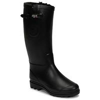 Zapatos Mujer Botas de agua Aigle AIGLENTINE FUR Negro