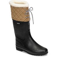 Zapatos Mujer Botas de nieve Aigle POLKA GIBOULEE Marino / Beige