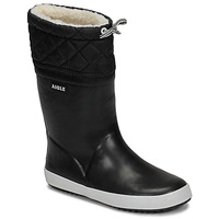 Zapatos Niños Botas de nieve Aigle GIBOULEE Negro / Blanco